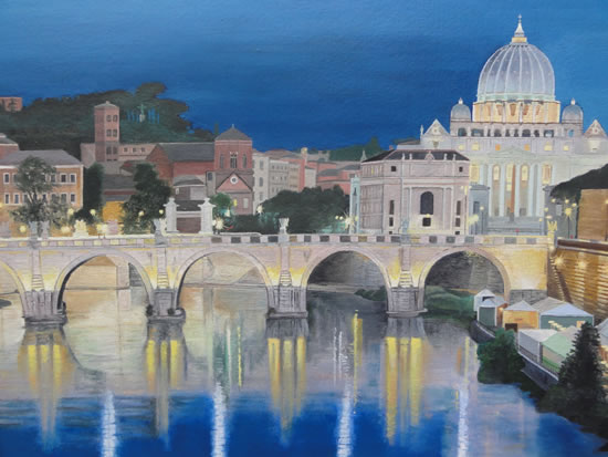 Rome Bridge of Angels - Art Gallery of Danielle Mandelli