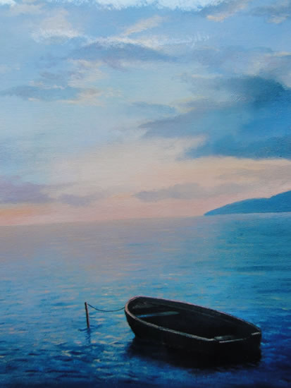 Baot At Rest on Still Waters - Calm Sea
