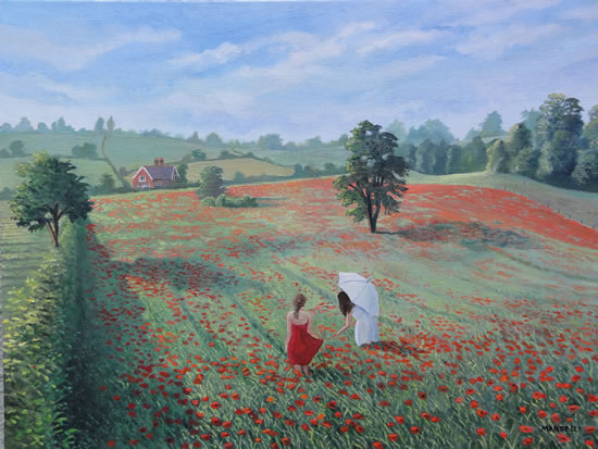 Picking Poppies - Surrey Art Gallery